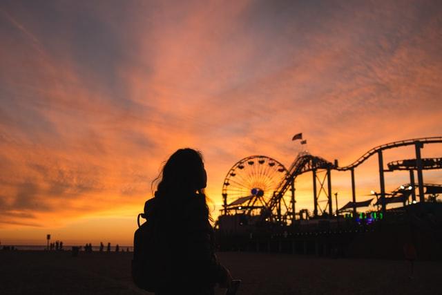 Attractiepark silhouette