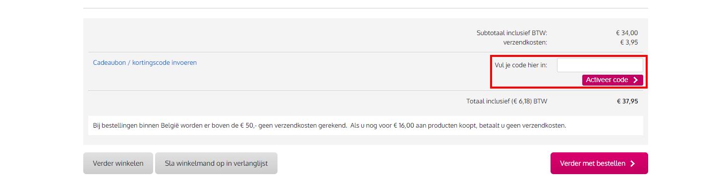 Bax-shop kortingscode gebruiken