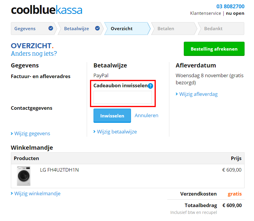 Coolblue kortingscode gebruiken