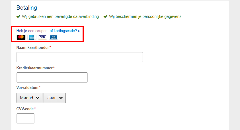 Expedia kortingscode gebruiken