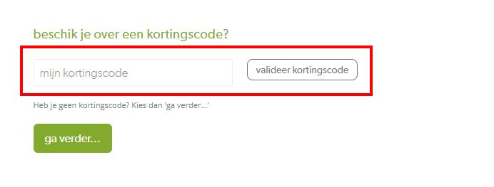 Foodbag kortingscode gebruiken