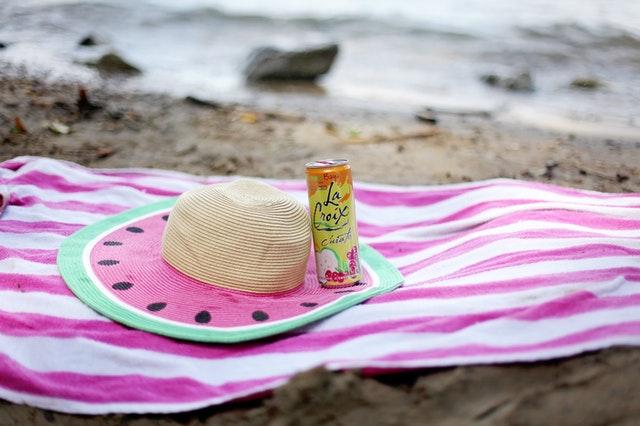 Handdoek op het strand