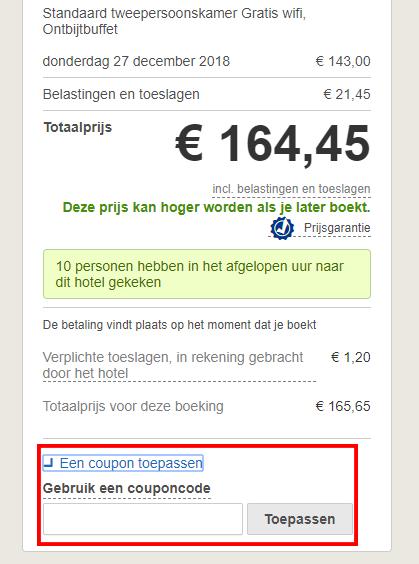 Hotels.com kortingscode gebruiken