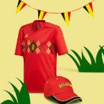 Vanaf €15,- koop je de officiële kleding van de Rode Duivels in de bol.com fanshop